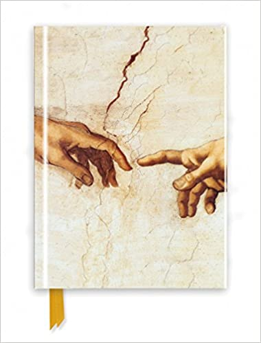 michelangelo creation hands foiled journal flame tree notebooks