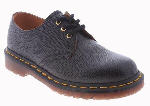 Dr. Martens - Zapatos de cordones de cuero para hombre negro negro