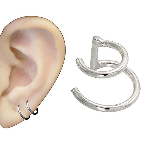Sterling Silver Cartilage Earrings Graduated