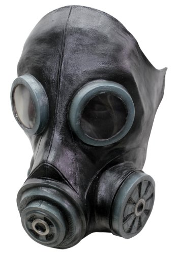 Black Smoke Gas Mask -
