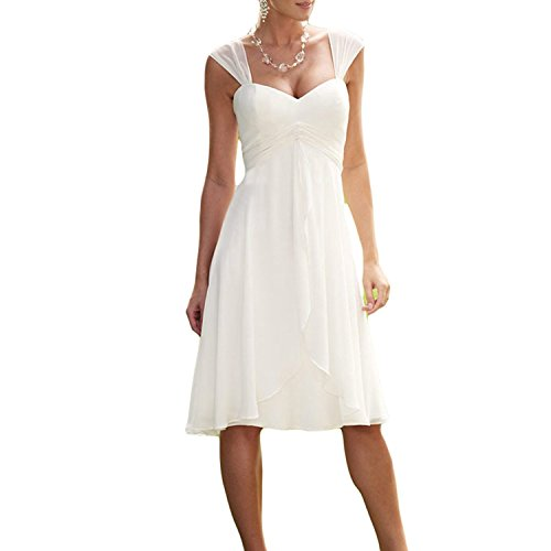 Modeldress Short Beach Wedding Dress For Bride Simple Bridal Gown Tea Length,Long Sleeve Maxi Dresses For Weddings