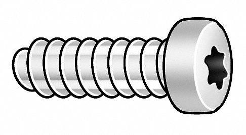 8mm Case Hardened Steel Miniature Thread Rolling Screw; PK25