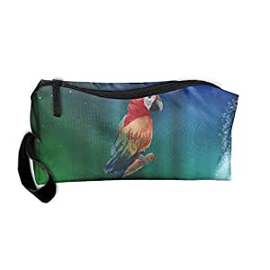 Travel Makeup Parrot Cosmetic Case Organizer Portable Artist Storage Bag Toiletry Jewelry Pen Holder Stationery Pencil Pouch
