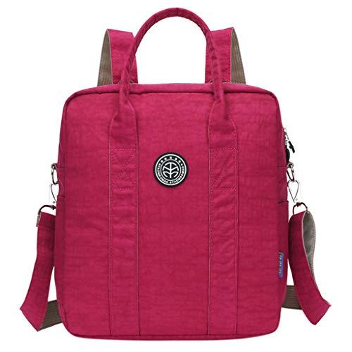 CCFAMILY Fashion Women's Outdoor Simple Zipper Large Capacity Nylon Backpack Travel Bag (Mug Julep)