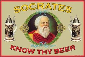 Know Thy Beer - Socrates Fine art Giclee canvas print (20