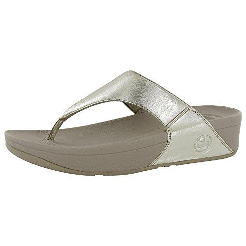 FitFlop Women's Lulu Thong Sandal,Gold,10 M US ()