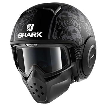 Oferta NUEVO Casco Moto Shark Drak Sanctus Mat Kaa negro Matt Talla XL