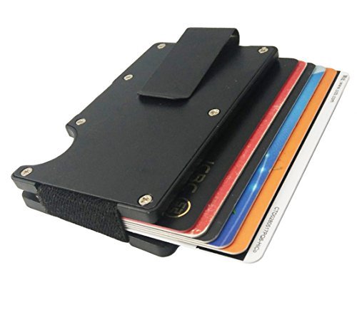 Holder Aluminum Black Aluminum Fiber Money for Black Wallet Carbon for RFID Slim Mens Card Clip Card Case Light 4RTw7Xq