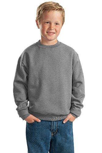 Jerzees Sweatshirt 562b (Jerzees Nublend Youth Crewneck Sweatshirt (Oxford) (S))