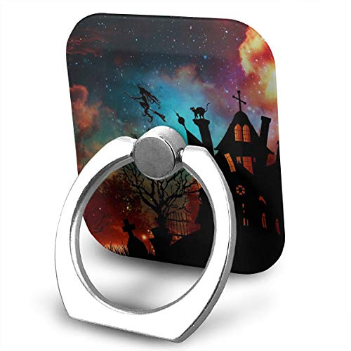 Cell Phone Ring Holder Cellphone Finger Stand 360 Degree Rotation Work for iPhone X 6 7 8 Plus S8 S9 Smartphone Ipad- Halloween -