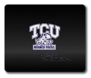 TCU Horned Frogs on Black Rectangle Mouse Pad by eeMuse
