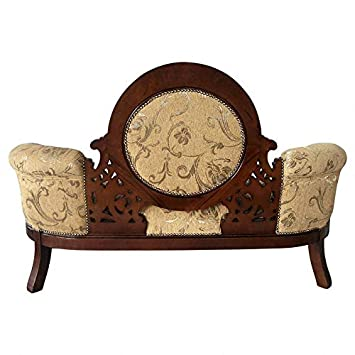 Design Toscano KS1022 Victorian Cameo-Backed Settee, Cherry