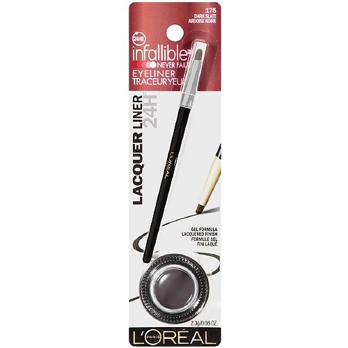 L'Oreal Infallible Lacquer Liner 24H, Dark Slate 0.08 oz (Pack of 2) (Ounce Polish 0.08 Lip)