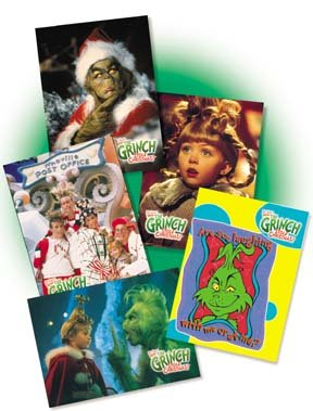 Grinch Costume Jim Carrey (How The Grinch Stole Christmas Complete Trading Card set of 99 cards- 2 1/2