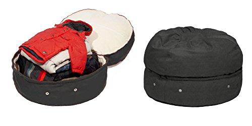 mimish Storage Beanbag - Microsuede Charcoal