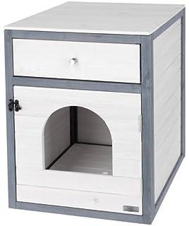 Pawhut Mobiletto Porta Lettiera Toilette Per Gatti In Mdf 63 535