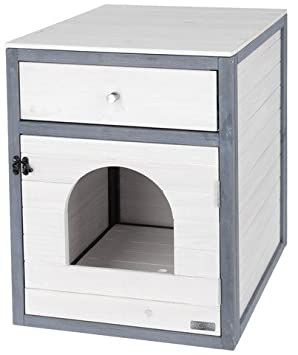 Kerbl - Casa para Gatos (45 x 58 x 60 cm), Color Blanco y Gris: Amazon.es: Productos para mascotas