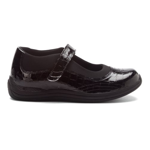 Drew 5 Grain Black B Patent Full Soft Rose Leather flats M Black Women's Croc rrRg4A