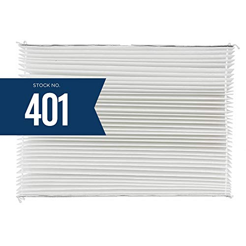 Aprilaire 401 Replacement Filter for Aprilaire Whole House Air Purifier Model: 2400, Space Gard 2400, MERV 10,White, (Pack of 1)