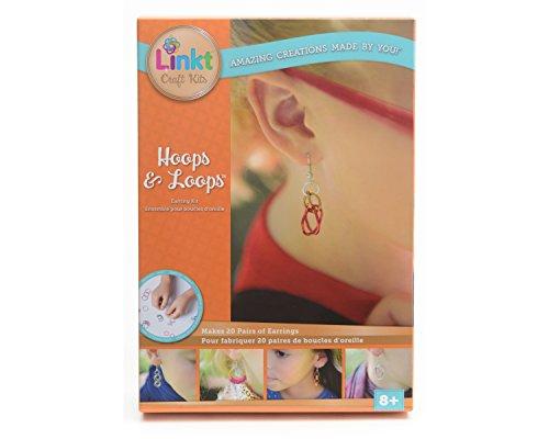Linkt Craft Kit Hoops & Loops (20 Pairs of - Jewelry Earrings Kit