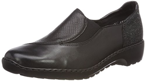 100% guaranteed for sale Rieker Women's L6064 Loafers Black (Schwarz/Noir-argent) the best store to get cheap from china Inexpensive cheap online footlocker pictures cheap online UQmSEl