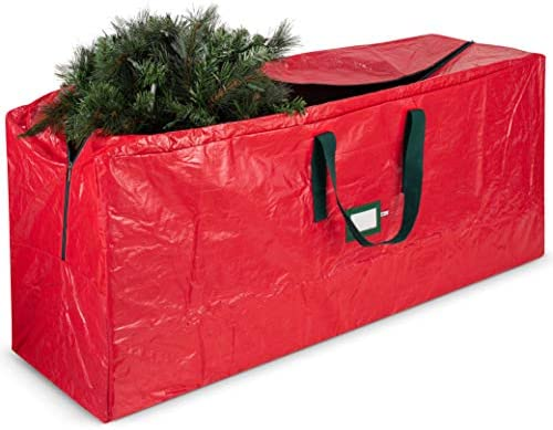 Large Christmas Tree Storage Bag - Fits Up to 9 feet Tall Holiday Artificial Disassembled Trees with Durable Reinforced Handles & Dual Zipper - Waterproof Material Protects from Dust, Moisture & Insect