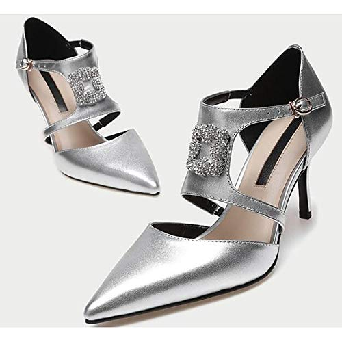 Heels Basic Fall Pump Heel Nappa Leather Silver Shoes Comfort Women's Spring Silver amp; Pink ZHZNVX Stiletto 7Ewq8vYnzH