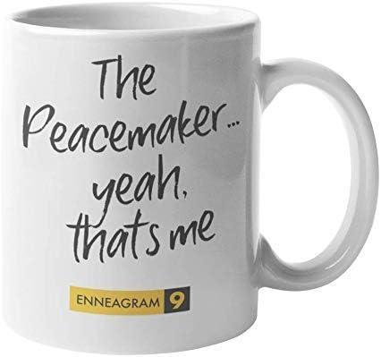 N\A Eneagrama Tipo 9 - Taza de café y té: El pacificador. Sí, Ese Soy yo (11oz)