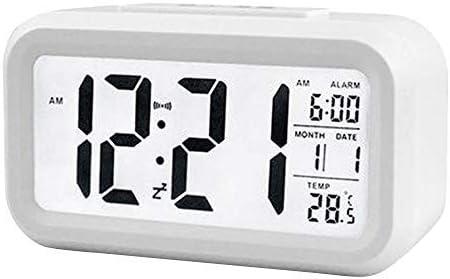 Kedelak Intelligenter digitaler Wecker mit Datums und Temperatur-Schlummertaste oben Batteriebetriebene rechteckige Schreibtischuhr mit Nachtlicht f/ür Schlafzimmer Kinder Kinder M/ädchen Jungen