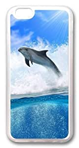 Case For HTC One M8 Cover Covers -Dolphin Wave3 PC Hard Soft Case Back Cover Case For HTC One M8 Cover Transparent