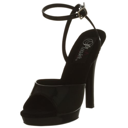 Pleaser LIP-125 8234 - Sandalias de vestir para mujer Noir
