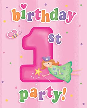 Hallmark Fairy Princess St Birthday Invitations Amazoncouk - 1st birthday invitations hallmark