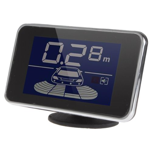 Periodic Buzzer Alarm Sound Alarm LED Radar ePathChina/® Mini LED Display 4 Sensors Kit Dual CPU Car//Truck//Vehicle Reversing Parking Sensor//Backup Sensor//Reversing Sensors System Black