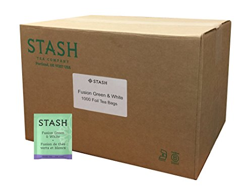 Stash Tea Fusion Green & White Tea 1000 Count Tea Bags in Foil (Packaging May Vary) Individual Tea Bags for Use in Teapots Mugs or Cups, White Tea and Green Tea, Brew Hot or Iced by Stash Tea (Image #4)