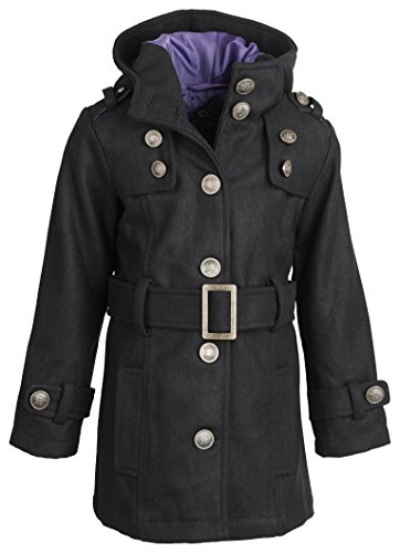 shampoo-little-girls-hooded-dressy-wool-pea-coat-with-metal-buttons-and-buckle-black-ink-size-2t