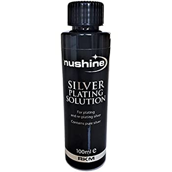 Nushine Silver Plating Solution 3 4 Oz - permanently plate PURE SILVER onto  worn silver, brass, copper and bronze (Ecofriendly formula)