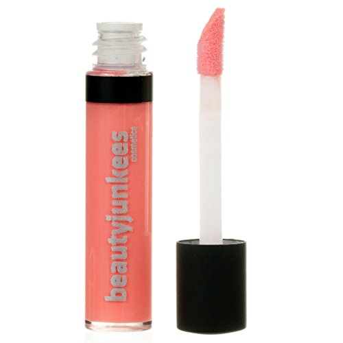 Long Lasting Matte Lip Gloss - Sugar Glaze Clear Peach Mini Lipgloss, Mint Flavored Moisturizing Shine, Sheer, All Natural, Paraben Free, Gluten Free, Cruelty Free, Made in the USA