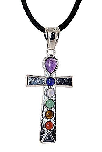 Mevoi CHAKRA-Variety Designs,Earth Stone treasure Pendents-FREE Silk Cord Chain ()