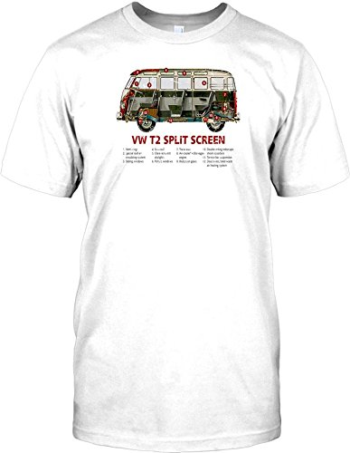 T Shirt homme VW T2 Split Screen