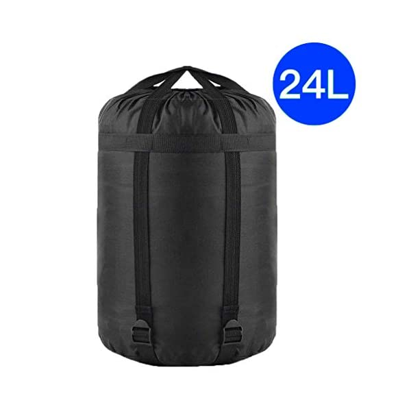 TINANA Compression Stuff Sack, 24L, 36L, 46L, Waterproof Sleeping Bags Storage Stuff Sack Organizer, Great for Backpacking and Camping 3