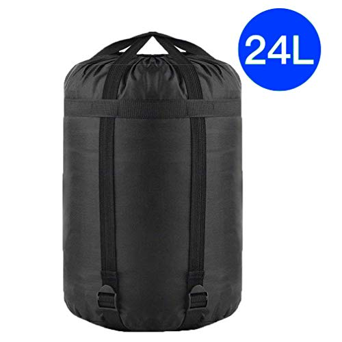 4-Pack Borogo Drawstring Ditty Storage Sack Durable Stuff Sacks 210D Polyester Oxford Dust Flap Stuff Sack Bag Sleeping Bag Clothes for Camping Travelling Hiking