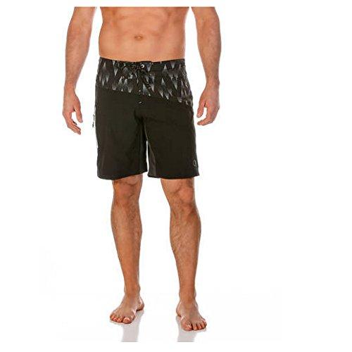 ocean-pacific-op-opflex-mens-printed-stretch-e-board-swimming-trunks-shorts-32-black-grey