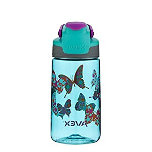 AVEX Kid's Auto Seal Freeride Water Bottle, Barbados, 16-Ounce