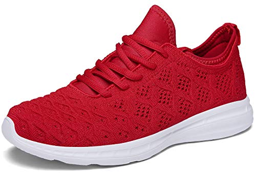- JOOMRA Women Running Shoes Tennis Red Fashion Gym Ladies Lightweight Casual Jogging Walking Sport Athletic Sneakers Size 8