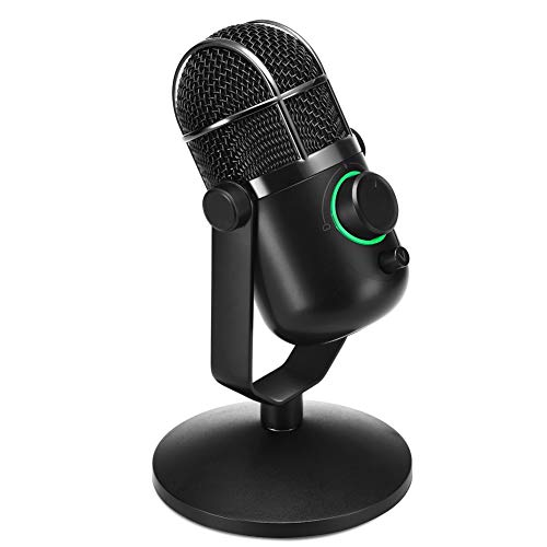 (THRONMAX MDRILL DOME Professional USB Studio Condenser Microphone for Chatting/Skype/YouTube/Recording/Gaming/Podcasting for iMac PC Laptop Desktop Windows Computer (BLACK) ...)
