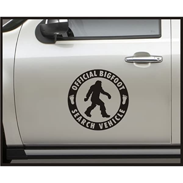 Official Bigfoot Response Vehicle Funny Vinyl Decal Sticker