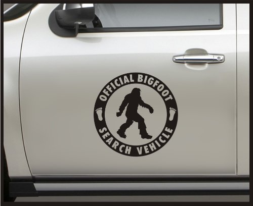 "Sticker Connection | Official Bigfoot Search Vehicle Bumper Sticker Decal for Car, Truck, Window, Laptop | 13""x13"" (White)"