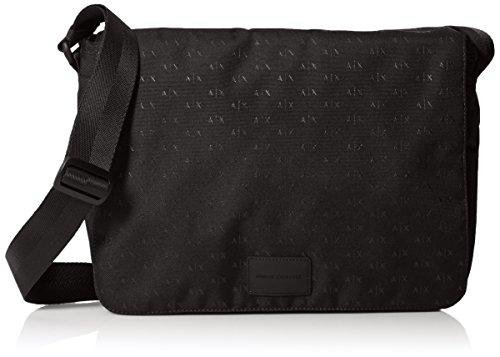 Armani Exchange Men's Allover Logo - Armani Bag Exchange Black