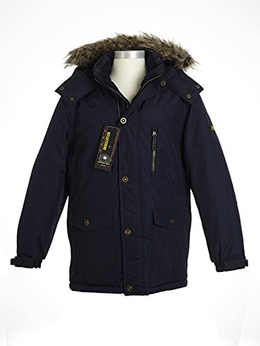cheaper a552a 9b8d3 Sfogo giaccone invernale da ragazzo blu scuro con inserti in ...