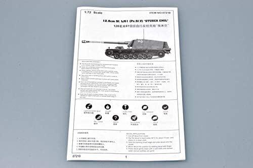 1//72 German 12.8cm Sf.L//61 Sturer Emil Tank Pz.Sf.V